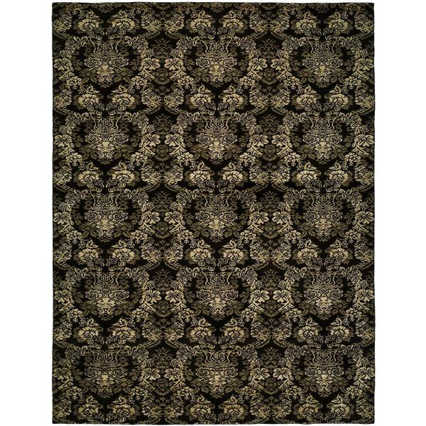 Gramercy Midnight Black Wool Hand-knotted Area Rug (8' x 10')