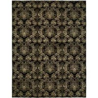 Gramercy Midnight Black Wool Hand-knotted Area Rug - 8' x 10'