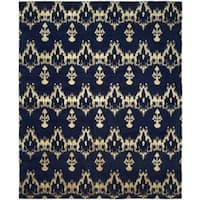 Gramercy Midnight/Blue Wool Blend Hand-knotted Area Rug (10' x 14') - 10' x 14'