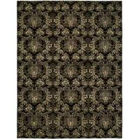 Gramercy Midnight Black Wool Hand-knotted Area Rug - 9' x 12'