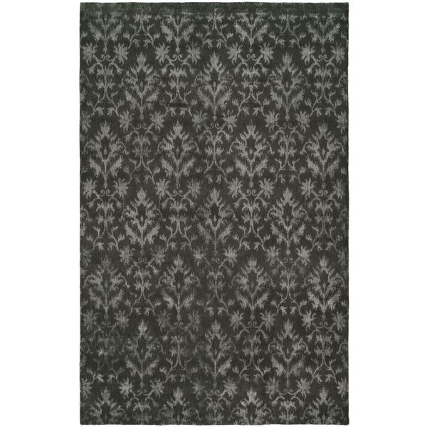 Gramercy Pewter Viscose and Wool Hand-knotted Area Rug - 8' x 10'