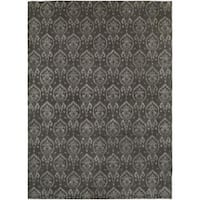 Gramercy Pewter Hand-Knotted Area Rug (9' x 12') - 9' x 12'