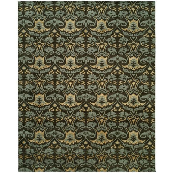 Gramercy Smokey Brown Wool Hand-knotted Area Rug (10' x 14')
