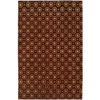 Gramercy Red Wool Silkette Hand-knotted Area Rug (8' x 10')
