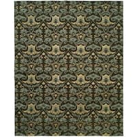Gramercy Smokey Brown Hand-Knotted Area Rug (2' x 3') - 2' X 3'