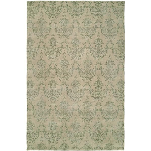 Gramercy Soft Beige Wool Hand-knotted Area Rug (8' x 10') - 8' x 10'
