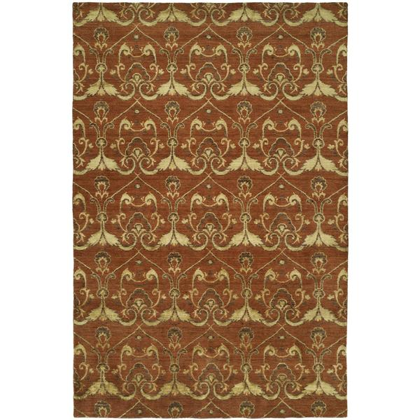 Gramercy Terracotta Rust Hand-knotted Wool Area Rug (10' x 14')