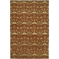Gramercy Terracotta Hand-Knotted Area Rug (2' x 3') - 2' x 3'