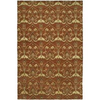 Gramercy Terracotta Rust Wool Hand-knotted Area Rug - 4' x 6'