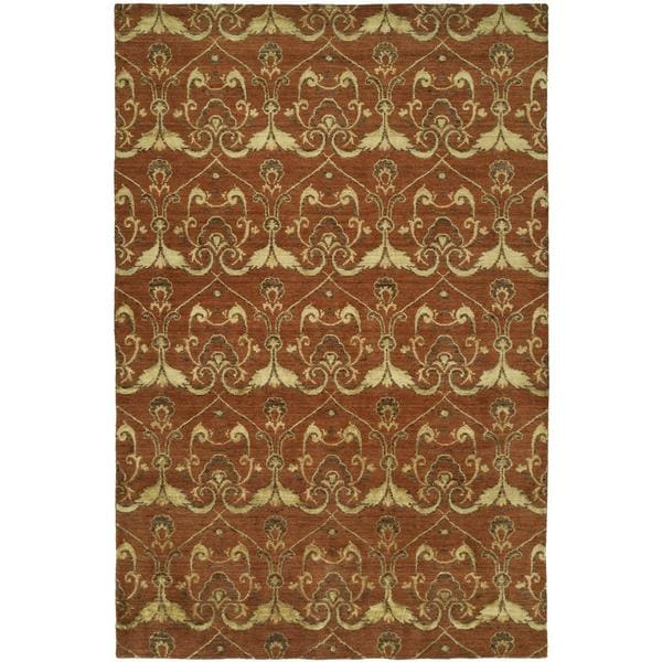 Gramercy Terracotta Wool Hand-knotted Area Rug (8' x 10') - 8' x 10'