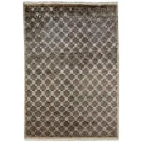 Jade Earth Tones Hand-Knotted Area Rug - 2' x 3'