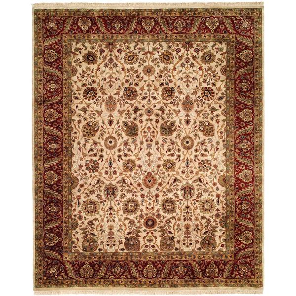 Kabir Burgundy/Red Hand-Knotted Area Rug (2' x 3')