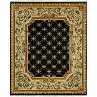 Le Palais Black/Ivory Wool Hand-knotted Area Rug (8' x 10')
