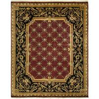 Le Palais Plum Multicolor Wool Hand-knotted Area Rug (8' x 10')