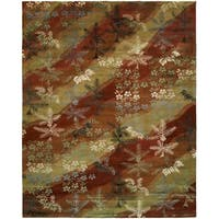 Madison Multi Wool and Viscose Hand-tufted Area Rug (5' x 8') - 5' x 8'