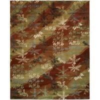 Madison Multicolored Wool/Viscose Hand-tufted Area Rug - 6' x 9'