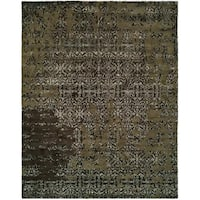 "Madison Multi/Coffee Wool Hand-tufted Area Rug (9'6 x 13'6) - 9'6"" x 13'6"""