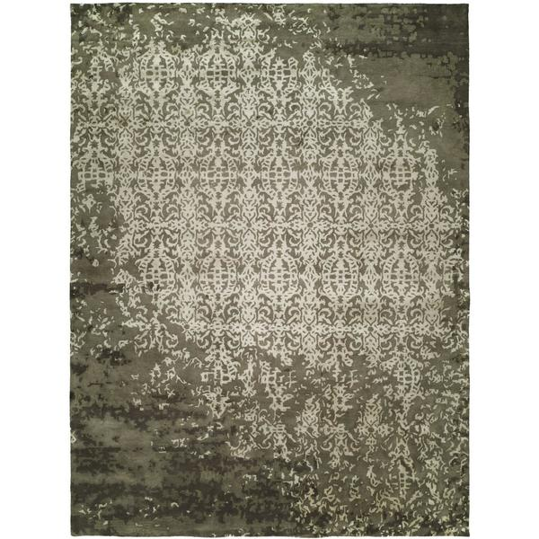 Madison Shadow Ivory Viscose and Wool Hand-tufted Area Rug - 9' x 12'