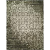 Madison Shadow Ivory Wool/ Viscose Hand-tufted Area Rug - 8' x 10'