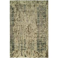 Madison Shadow Sand Wool and Viscose Hand-tufted Area Rug (8' x 10') - 8' x 10'