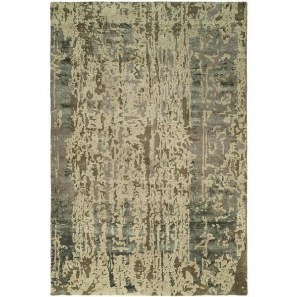 Madison Shadow Sand Wool Blend Hand-tufted Area Rug (9' x 12') - 9' x 12'