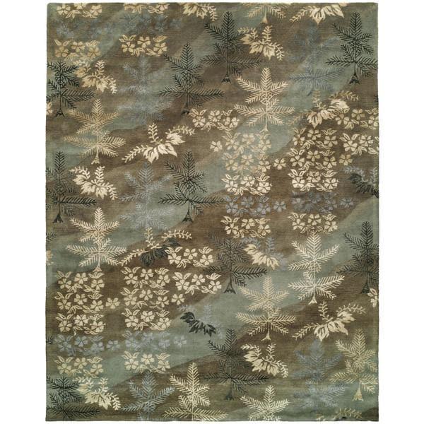 Madison Sky Brown Wool Hand-tufted Area Rug - 8' x 10'