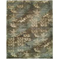 Madison Sky Brown Wool Hand-tufted Area Rug - 8' x 10'