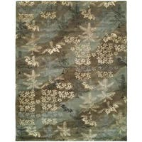 Madison Sky Brown Wool/Viscose Hand-tufted Area Rug - 9' x 12'