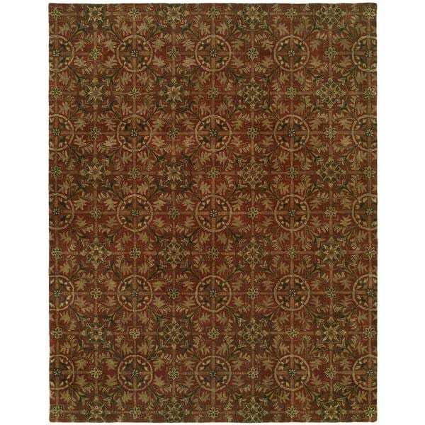 Newport Mansions Rust Hand-Tufted Area Rug (2' x 3')