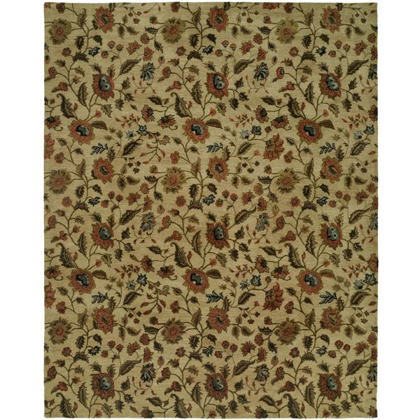 Newpot Mansions Hand-tufted Beige Wool/ Cotton Indoor Area Rug (8' x 10')