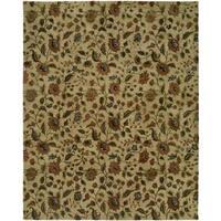 Newpot Mansions Hand-tufted Beige Wool/ Cotton Indoor Area Rug - 8' x 10'
