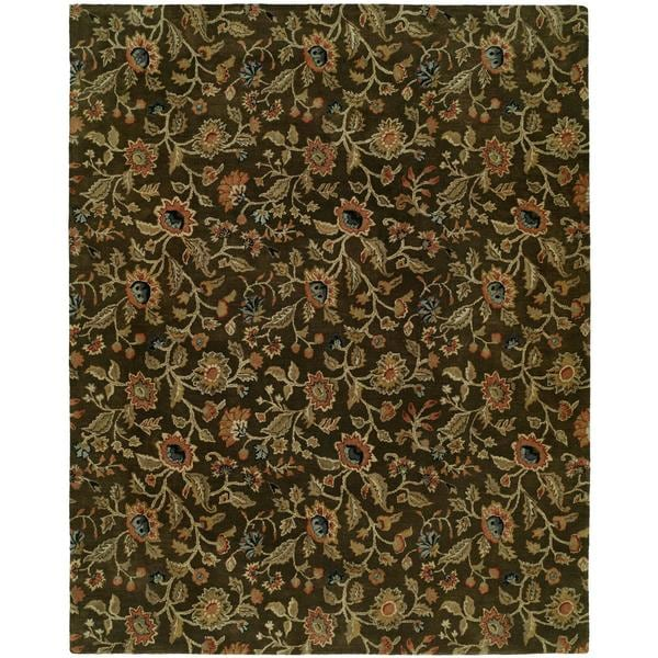 Newpot Mansions Brown Wool Hand-tufted Area Rug (8' x 10')