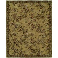 Newpot Mansions Gold Wool Hand-tufted Area Rug (9'6 x 13'6)