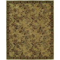 """Newpot Mansions Gold Wool Hand-tufted Area Rug (9'6 x 13'6) - 9'6"""" x 13'6"""""""