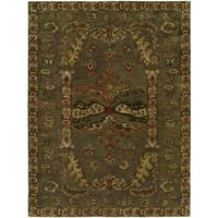 Newpot Mansions Grey Wool Cotton Hand-tufted Area Rug (8' x 10')