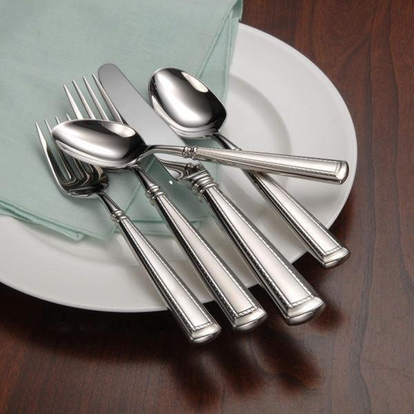 Oneida Couplet Fine Stainless Steel 20-Pc Flatware Set Service for 4. Opens flyout.
