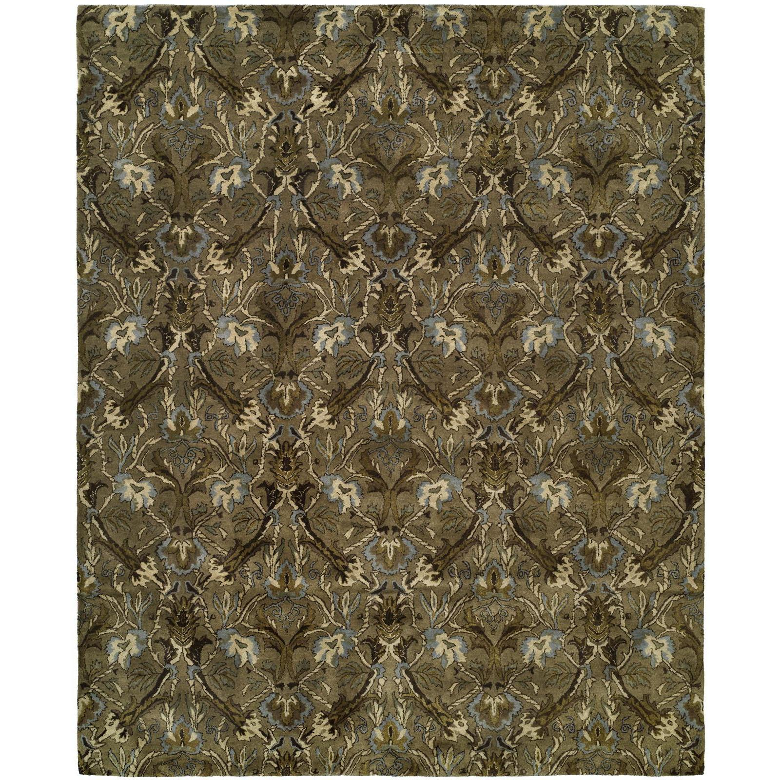 Newpot Mansions Latte Wool Hand-tufted Area Rug (8' x 10'...
