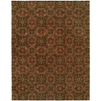 Newpot Mansions Rust Wool Hand-tufted Area Rug (9' x 12') - 9' x 12'