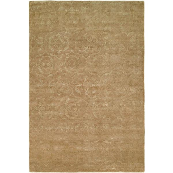 Nirvana Butternut Wool Hand-knotted Area Rug (10' x 14')