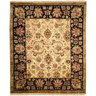 Nomad Plum/ Ivory Wool Hand-knotted Moroccan Area Rug (6' x 9')