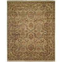 Pasha Antique/Gold Hand-knotted Wool Area Rug (10' x 14')