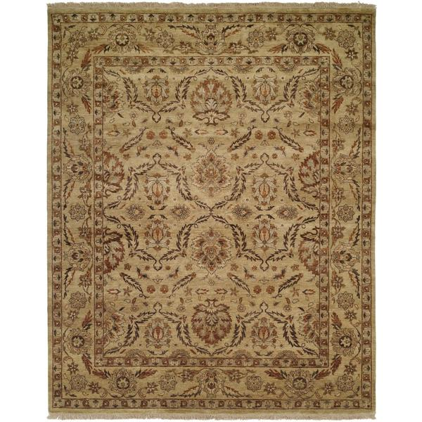Pasha Antique/Gold Hand-Knotted Area Rug (2' x 3')