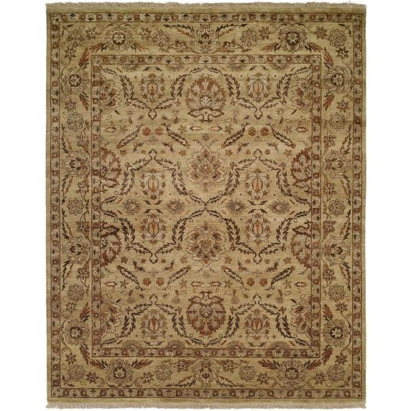 Shop Pasha Antique/ Gold Wool Hand-knotted Area Rug