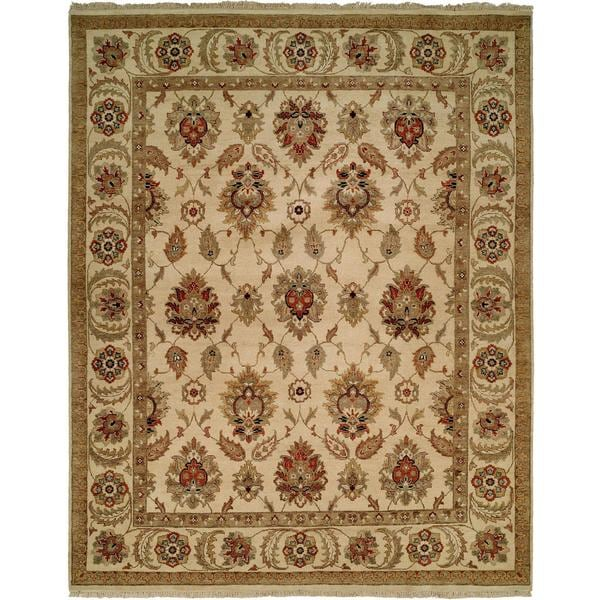 Pasha Ivory Wool Hand-knotted Runner Rug (2'6 x 8')