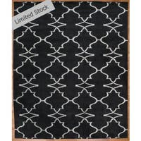 Portfolio Navy Wool and Viscose Hand-knotted Area Rug - 8' x 10'