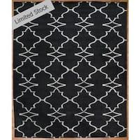 Portfolio Navy Wool Viscose Hand-knotted Area Rug (9' x 12')