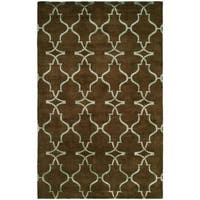 Portfolio Java/Brown Wool Hand-knotted Area Rug (8' x 10')