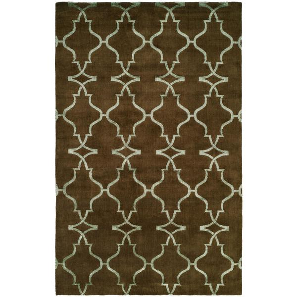 Portfolio Java/Brown Wool Hand-knotted Area Rug (8' x 10') - 8' x 10'