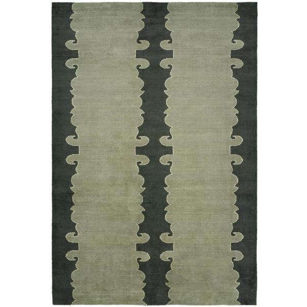 Portfolio Slate/ Green Hand-knotted Wool Area Rug (8' x 10')