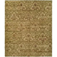 Royal Manner Derbyshire Green Wool Hand-knotted Area Rug (6' x 9')